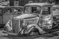 Старое и ржавое автомобильное BENTON, США - 29-ОЕ МАРТА 2019 стоковые изображения rf