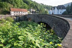 Старое каменное altena Германия моста Стоковые Изображения