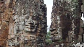 Старое каменное Bayon Tample, Angkor Thom Стоковые Изображения RF