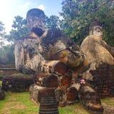 Старое каменное Buddhas стоковая фотография rf
