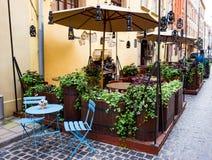 Старое кафе городка, Львов Стоковое фото RF