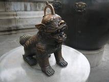 Старое китайское украшение мифологического животного Стоковое фото RF