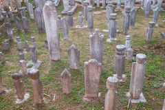Старое кладбище тахты стоковая фотография rf