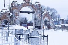 Старое кладбище стоковые фотографии rf