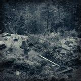 Старое кладбище Стоковые Изображения RF