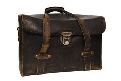 Старое кожаное photobag стоковое фото rf