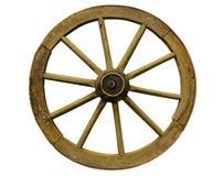 старое колесо деревянное Стоковое Фото