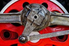 Старое колесо красного цвета локомотива пара Стоковое Изображение