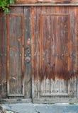 Старое коричневое деревянное doow Стоковое Изображение RF