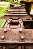 старое колесо трактора Стоковые Фотографии RF