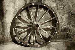 старое колесо фуры Стоковые Фото