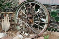 старое колесо фуры Стоковое Изображение