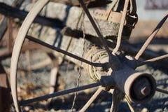 старое колесо фуры Стоковая Фотография
