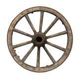 Старое колесо фуры стоковое фото