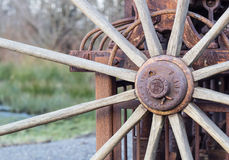 Старое колесо. Стоковая Фотография