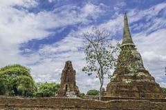 Старое красивое тайское wat Mahathat виска, равенство Ayutthaya историческое Стоковые Изображения