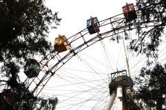 Старое красочное колесо ferris Стоковое фото RF