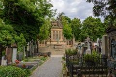 Старое кладбище Vysehrad в Праге, чехии стоковое фото