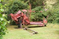 Старое машинное оборудование земледелия на немецком музее на Frutillar, Чили Стоковые Фотографии RF