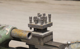 Старое машинное оборудование токарного станка Стоковое Изображение RF