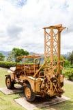 Старое машинное оборудование угольной шахты на maemo Таиланде Стоковая Фотография