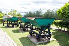 Старое машинное оборудование угольной шахты на maemo Таиланде Стоковое фото RF