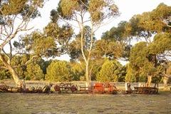 Старое машинное оборудование фермы Стоковые Изображения