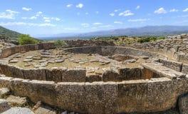 Старое место Mycenae, Греции стоковые фото