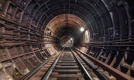 Старое метро тоннеля в Москве Стоковое Изображение RF