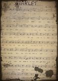 Старое нот листа   стоковая фотография