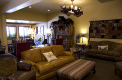 Старое лобби гостиницы Стоковое фото RF