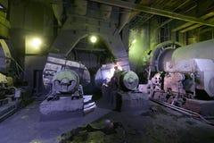 Старое оборудование на электростанции Стоковая Фотография