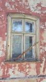 Старое окно в Риге Латвии Стоковые Изображения