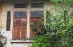 старое окно деревянное Стоковая Фотография