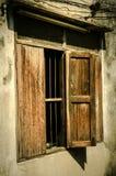 старое окно деревянное Стоковые Фотографии RF