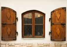 старое окно деревянное Стоковое Изображение