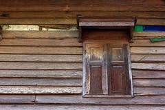 старое окно деревянное Стоковое Фото