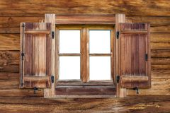 Старое окно на хате Стоковые Фото