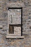 старое окно отверстий Стоковая Фотография