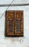 Старое окно с штарками Стоковые Фото