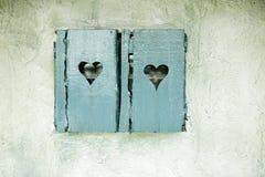 старое окно штарок деревянное Стоковая Фотография RF