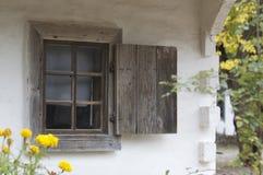 старое окно штарок Стоковая Фотография