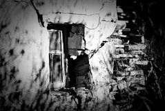 старое окно Стоковая Фотография