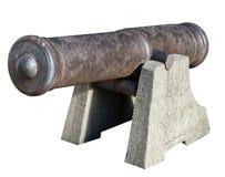 Старое оружие от прибрежной батареи Стоковое Изображение