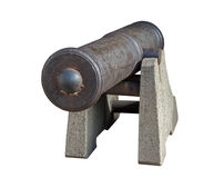 Старое оружие от прибрежной батареи Стоковая Фотография