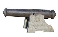 Старое оружие от прибрежной батареи Стоковые Изображения