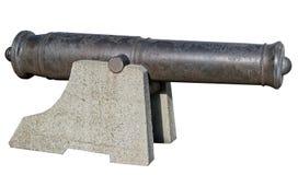 Старое оружие от прибрежной батареи Стоковые Фото