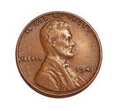 Старое пенни США Стоковая Фотография RF