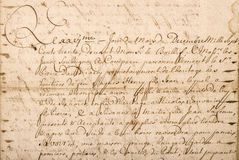 Старое письмо с рукописным текстом текстура года сбора винограда grunge Стоковые Фотографии RF