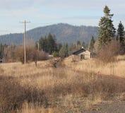 Старое покинутое депо поезда Стоковое Фото